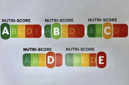 Labeling model five colors Nutriscore